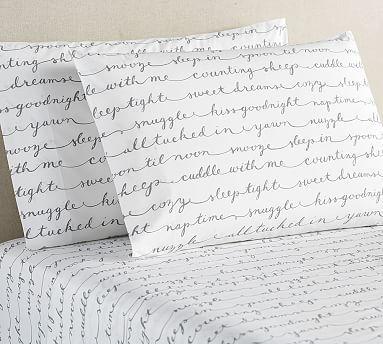 Sleepy Sentiment Organic Sheet Set, Queen, Gray. Dorm Room BeddingBedding  CollectionsSheet SetsSlide RulePottery BarnTwin ... Part 72