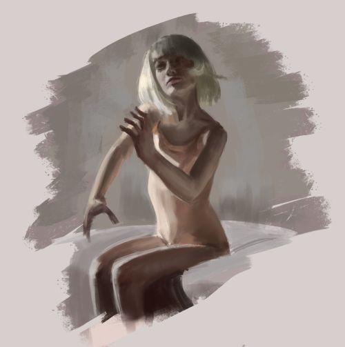 Study!  #2D #painting #drawing #girl #warmup #woman #SIA #chandelier #musicvideo #vevo #instart #digitalpainting #dancer #maddieziegle #morning #light #contrast #shesahellofadancer #cute #song #pop