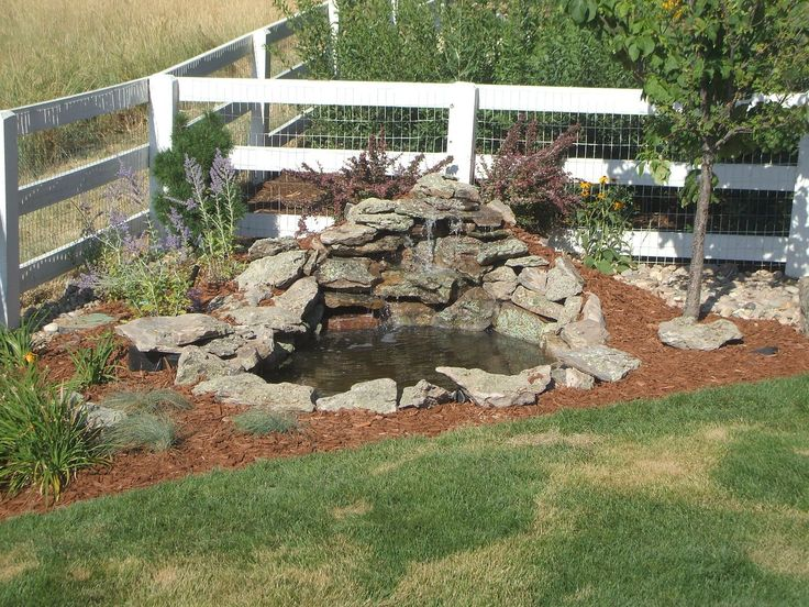 Backyard Ponds Ideas photo by photo courtesy of waterhouse pools and ponds Garden And Patio Small Diy Ponds With Waterfall And Stone Border In The Corner Backyard