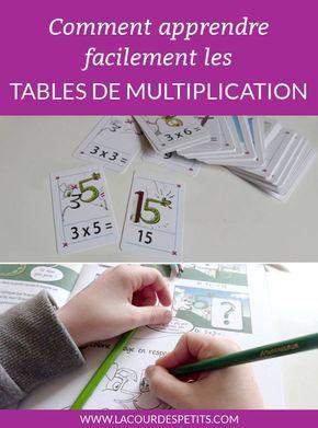 Une méthode de mémorisation ludique pour apprendre les tables de multiplication. Faire des maths avec les enfants n'a jamais été aussi facile ! #lacourdespetits #mathematiques #multiplication #memorisation #mathactivities #education #ce1 #ce2