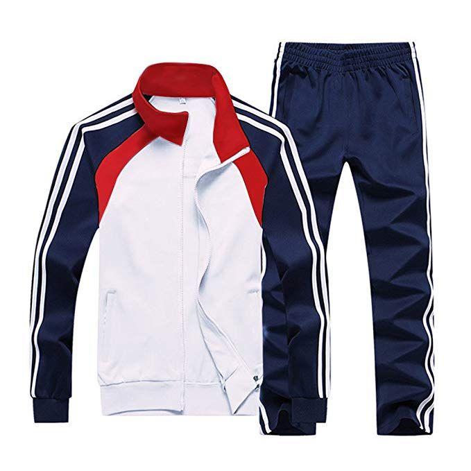 Sun Lorence Men's Athletic Running Tracksuit Set Casual Full Zip Jogging  Sweat Suit Review | Tracksuit set, Casual sets, Sweatsuit