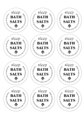 Homemade Bath Salts With Free Printable Labels Best