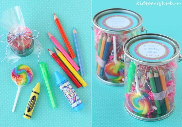 kidspartyhub.ru_День Рождения на тему Искусство в цветах радуги_сувениры  в память о вечере