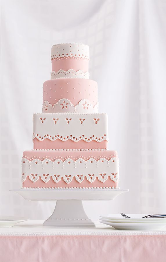 Hand Cut Sugar-Paste Lace Trimmed Cake