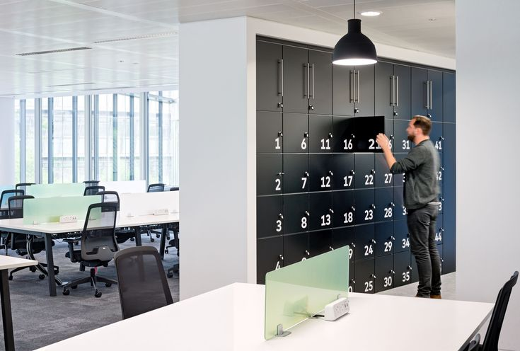 Secure office lockers for hot-desking and flexible working trends. Let your workspace become a physical extension of your company's brand.