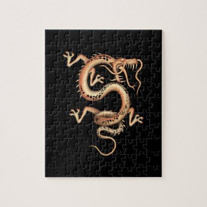 Mystical Dragon Jigsaw Puzzle - animal gift ideas animals and pets diy customize