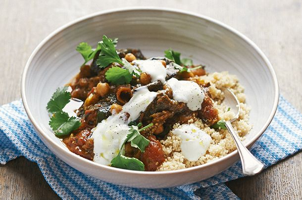 Algerian-Inspired Vegetarian Aubergine Tagine | by Christina Mackenzie | published June 5, 2014 In Around the world, Foodie World Cup | on JamieOliver.com