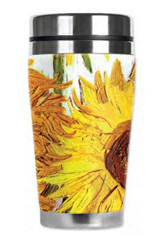 Tasse de voyage Tournesols Prix: 16.95 $ || Sunflowers Travel Mug Price: $16.95