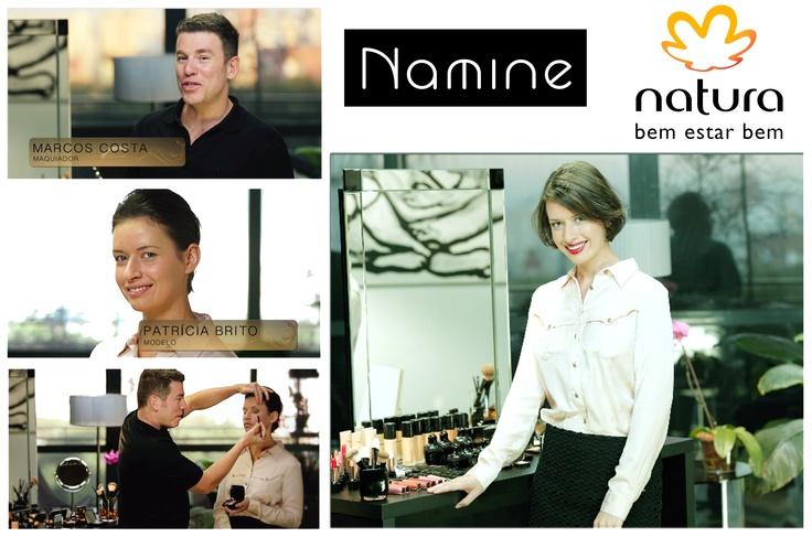 Making Of Comercial Natura com Marcos Costa e a Namine arrasando mais uma vez com a produção!! Saia de renda @adoronamine♥