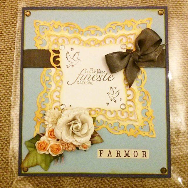 #Birthday #card for my #grandmother! #scrapbooking #scrapagram #handmade #flowers #birthdaycard