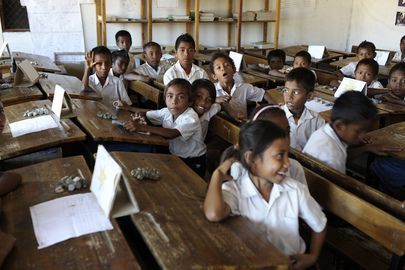 Secretary-General Ban Ki-moon visited the Cassait Primary School in the Liquica district of Timorese capital Dili. <br/><br/>A classroom of children at the school.