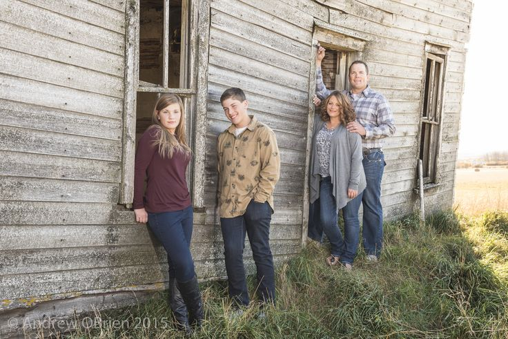 Family session, old house