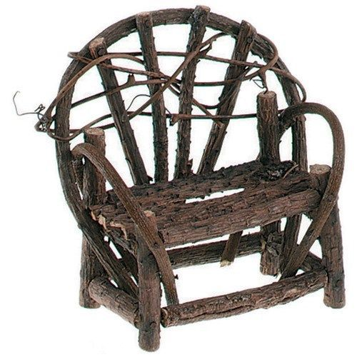 Miniature Bentwood Twig Love Seat for Your Fairy Garden or Gnome Village - 3....