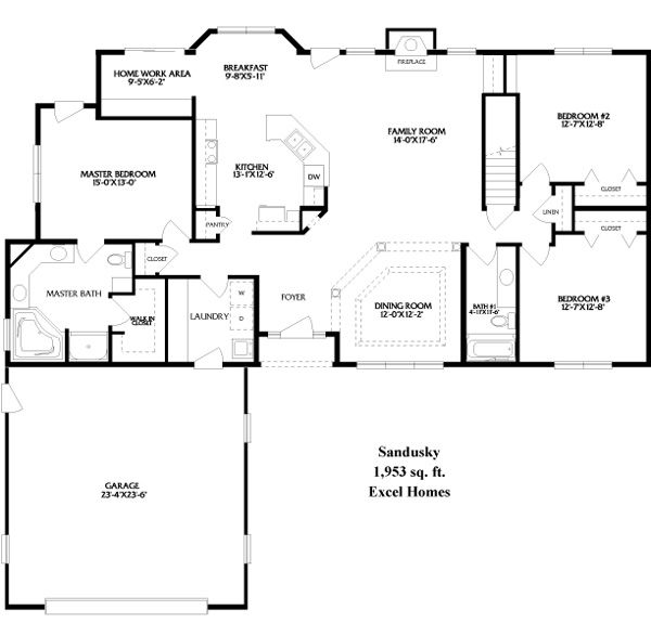 Best 25 ranch floor plans ideas on pinterest ranch Open floor plans ranch homes
