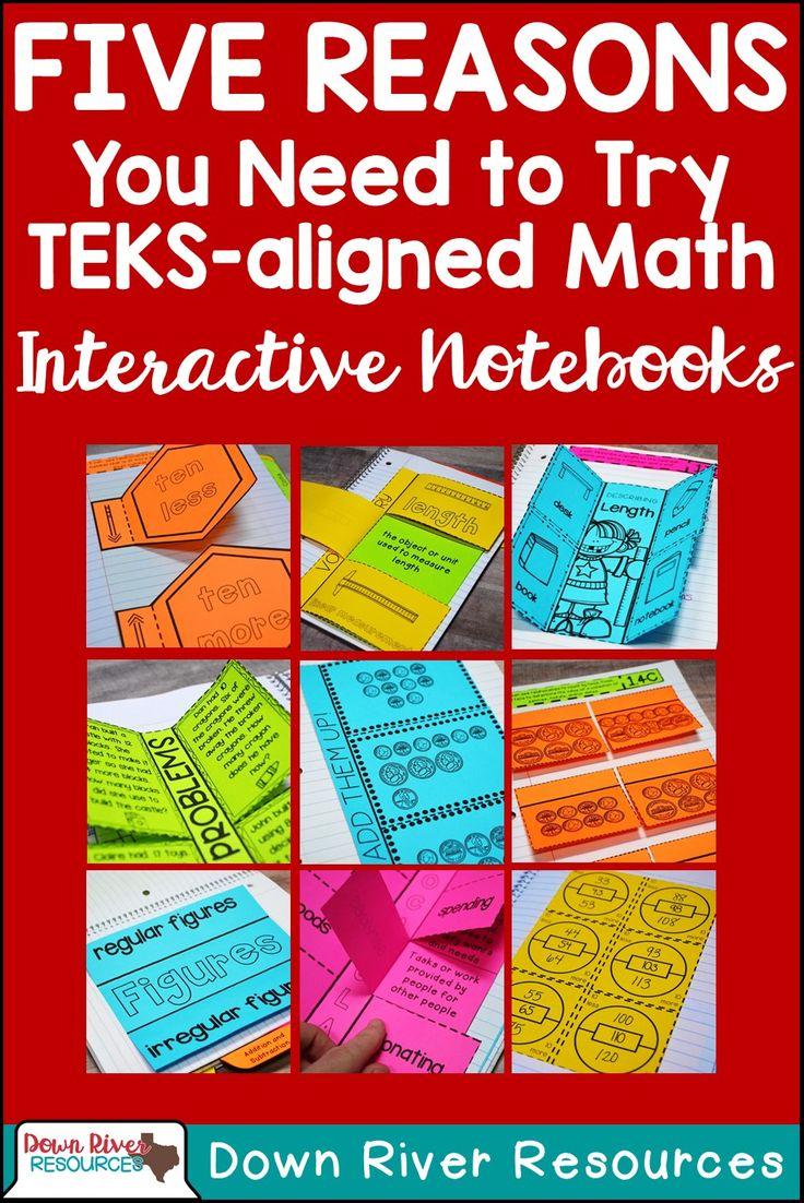 Math Interactive Notebooks   TEKS-aligned Interactive Notebooks   First Grade Math Interactive Notebooks   Second Grade Math Interactive Notebooks   Kindergarten Math Interactive Notebooks