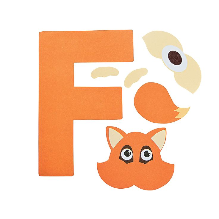 letter f crafts f is for fox letter f craft kit trading 49218