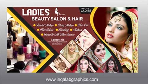 Beauty Parlour Banner Design Psd Free Vector Coreldraw Illustration Template Free Download Beauty Salon Posters Flex Banner Design Beauty Parlor