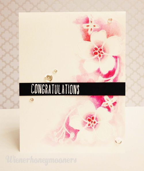 Elegant Congrats Card made by Kimberly Wiener for the #PinSightsChallenge using #EssentialsbyEllen stamps and dies. #12DaysCompanionGreetings #BohemianGarden #ellenhutsonllc