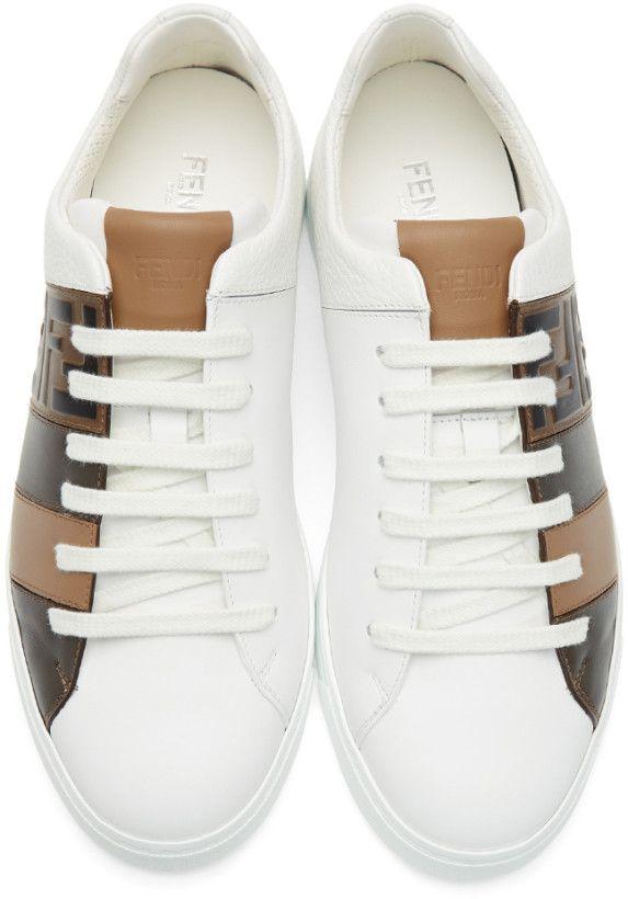 White 'Forever Fendi' Reloaded Sneakers
