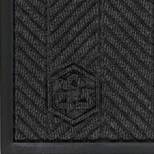 Andersen 2240 Black Smoke PET Polyester WaterHog ECO Elite Entrance Mat, 3' Length x 2' Width, For Indoor by Andersen. $39.43. WaterHog construction and performance is combined with a 100 percent post consumer recycled PET polyester fiber system that is reclaimed from plastic bottles and a 100 percent rubber backing that contains 15 to 20 percent post consumer car tire rubber. The new herringbone pattern complements WaterHog Eco Elite Roll Goods and delivers an u...