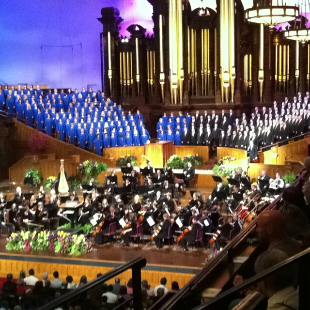 Mormon Tabernacle Choir - Salt Lake City, Utah - Oct 1990    More LDS Gems at:  www.MormonLink.com