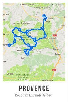 Karte mit Sehenswürdigkeiten der Provence – Mayte Gil Mena