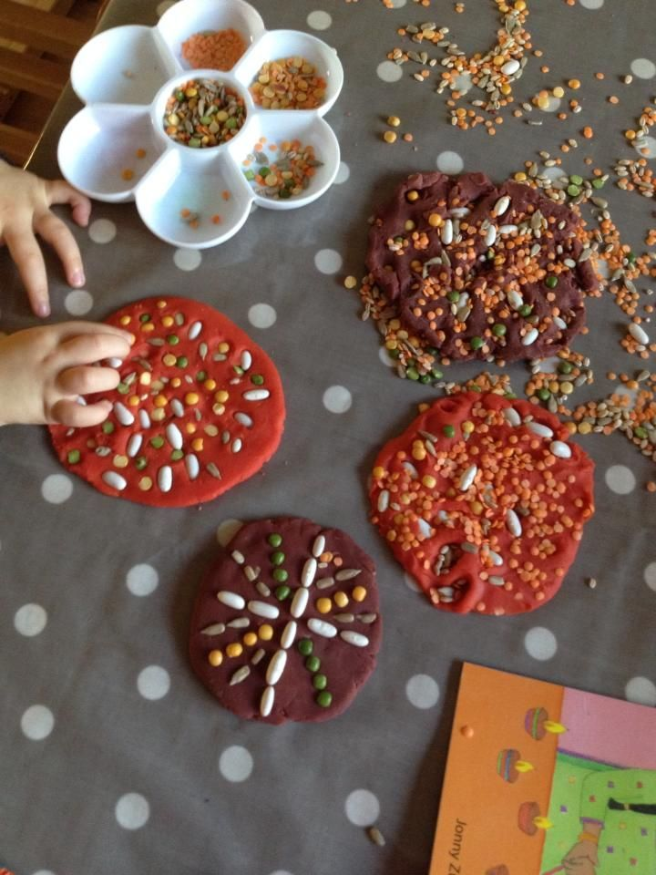 Natural Playdough Seed Ornaments!