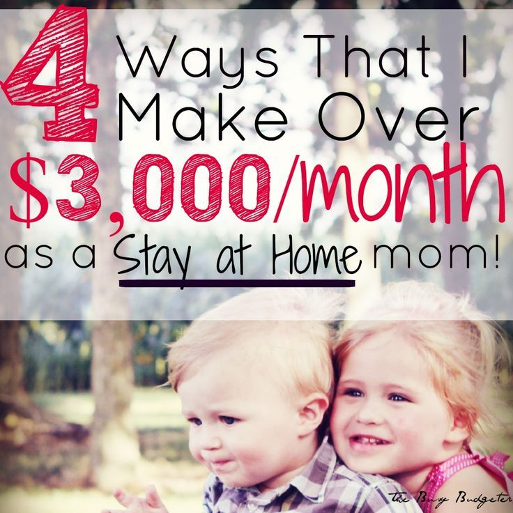 The 4 Side Jobs That Make Me Over $3,000 a Month as a Stay-at-Home Mom Money Making Ideas #Money