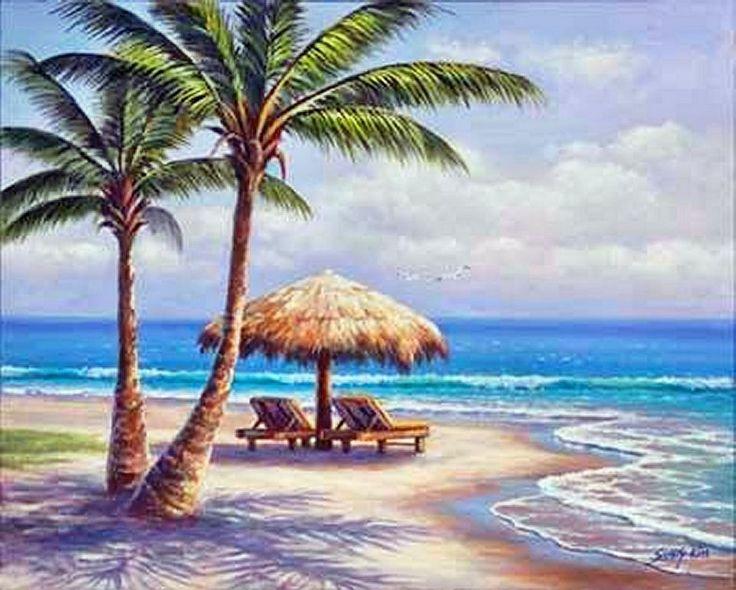 sung kim, Beach and palm trees