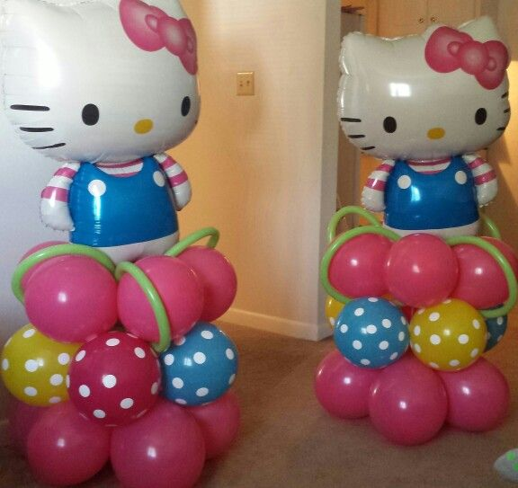 Hello kitty balloon decorations