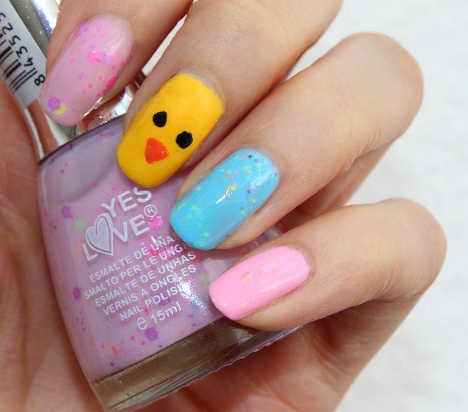 Yes Love Neon Glitter nail polish http://www.talasia.de/2015/04/04/nails-oster-naildesign-mit-yes-love-lacken/