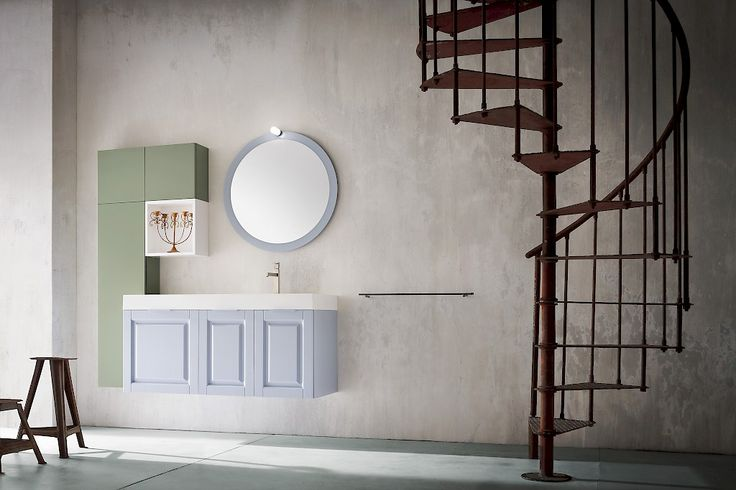FINCH FH 05 | Compab. Structure 541 lacquered ash (D8 ice). Doors 541 lacquered ash (D8 ice). Washbasin CITY 120 R in mineralmarble.