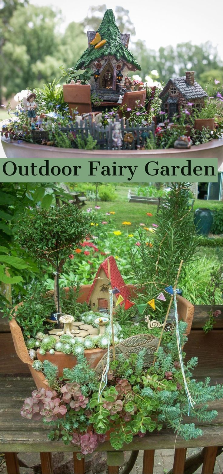 Beautiful Fairy Garden Ideas Kits Plans A Means Of Not Overloading Small Garden Spaces Is The Monoch Large Fairy Garden Fairy Garden Kit Fairy Garden