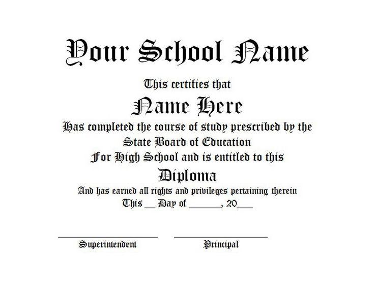 Diploma | Free Word Templates Customizable Wording