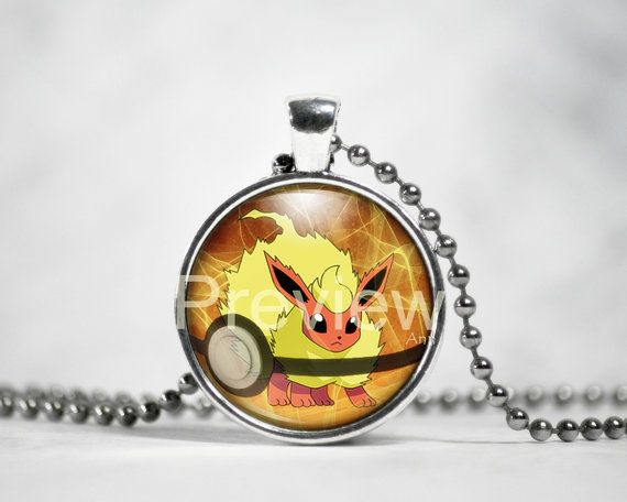 Flareon Pokemon Pendant Eevee evolution Pokemon by PokemonyByAnn