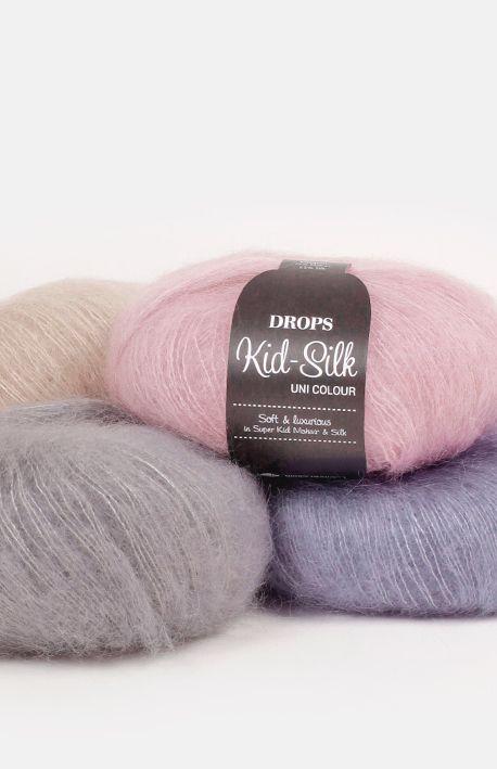 Un fil luxueux, mélange exclusif de 75 % mohair super kid et 25 % soie, DROPS Kid-Silk est un léger comme une plume et donne un effet sophistiqué, qu'il soit...