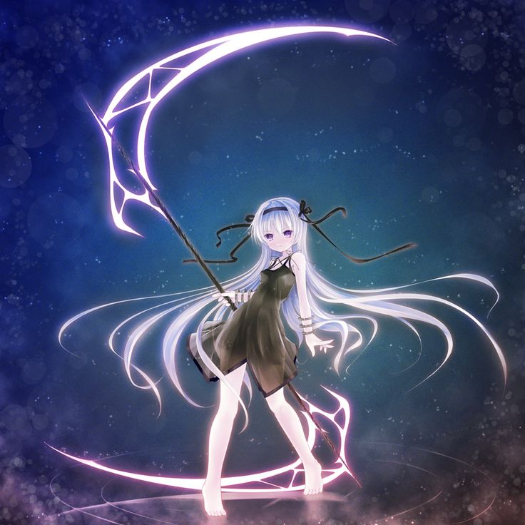 anime girl with scythe scythe pinterest life is