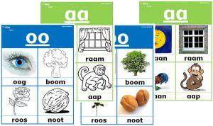 Letterkaarten 001 Leuk om thuis te oefenen met de kids.