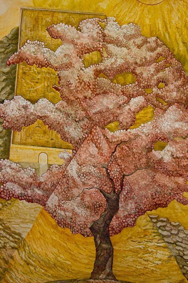 El árbol de Jessé - Santa Maria del Alba. Contemporary fresco by Josep Minguell