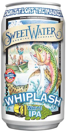 Whiplash White IPA, SweetWater Brewing Company's Catch & Release winter seasonal, is an American style Belgian IPA.  #craftbeer #beer  http://hopsaboutbeer.com/