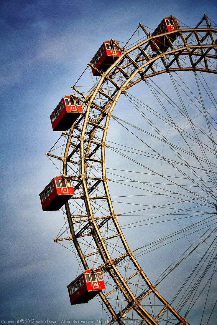 The famous giant wheel, the Wiener Riesenrad in the Prater - Vienna, Austria