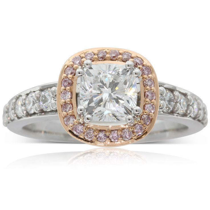 18ct white & 18ct rose gold 1.02ct white & pink diamond ring, an amazing dress ring or magnificent engagement ring.