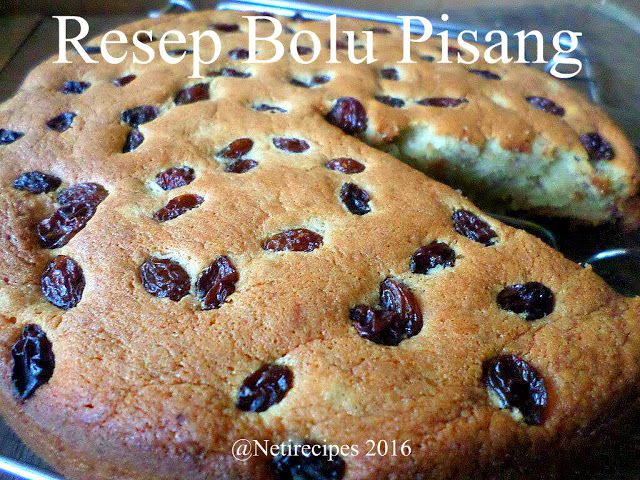 Banana cake recipe.   What will you need :   Ingredients : 2 eggs 130 grams of wheat flour 170 grams of banana puree 1 sachet of white sweet condensed milk 1/2 cup vegetable oil 1/2 teaspoon baking powder 1/2 teaspoon baking soda or baking powder 1/2 teaspoon fine salt 5 tablespoons granulated sugar 2 tablespoons raisins 1 packet of vanilla
