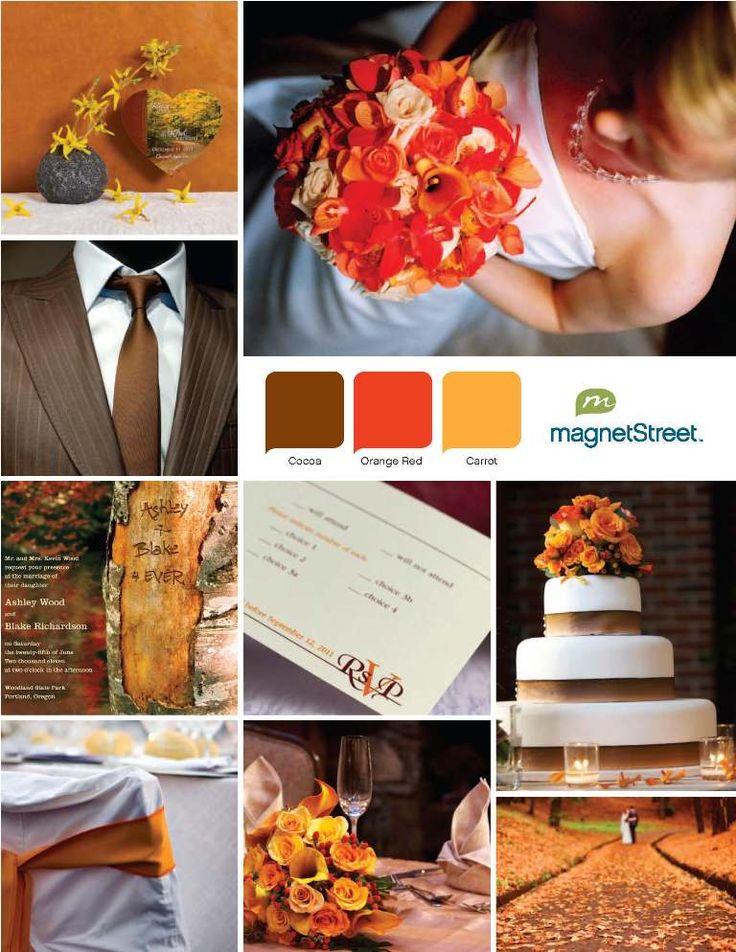 Fall wedding inspiration #wedding #fall #autumn #orange #cake #inspiration #details #decor