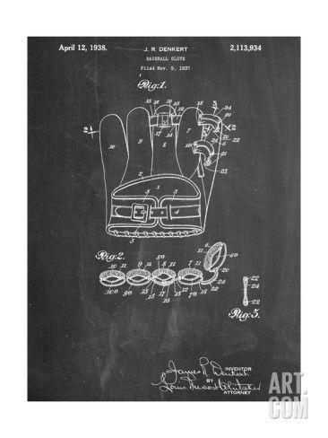 Plan d'un gant de baseball
