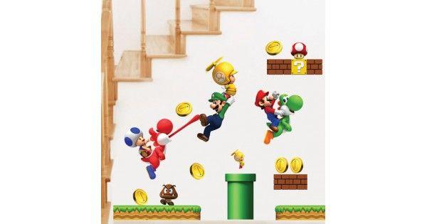 Αυτοκόλλητο Τοίχου Super Mario