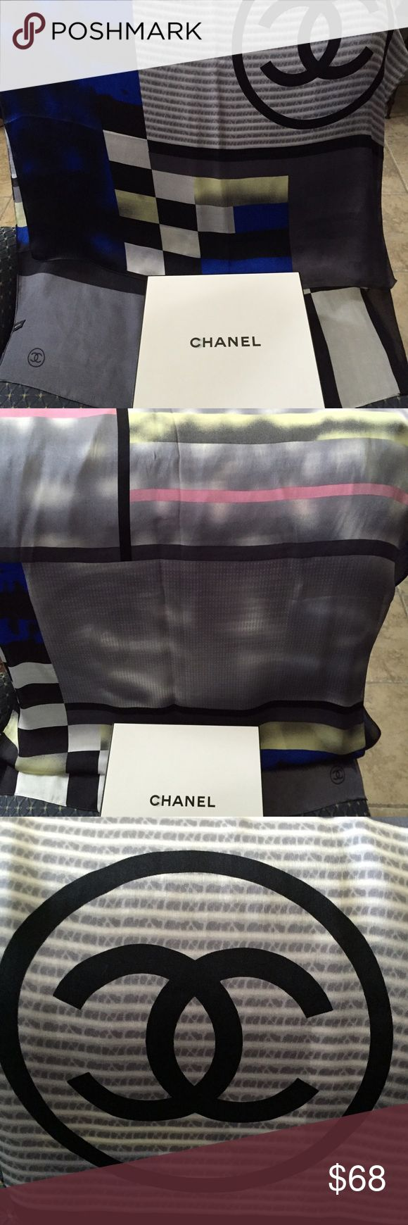 So Chanel scarf NWOT Chanel inspired scarf 💯 silk, beautiful design & colors, new never used. Box include it 🎁 CHANEL Accessories Scarves & Wraps