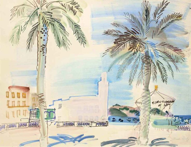 thunderstruck9:Raoul Dufy (French, 1877-1953), Philippeville en Algérie, 1934. Watercolour and gouache on paper, 50.5 x 66.5 cm.