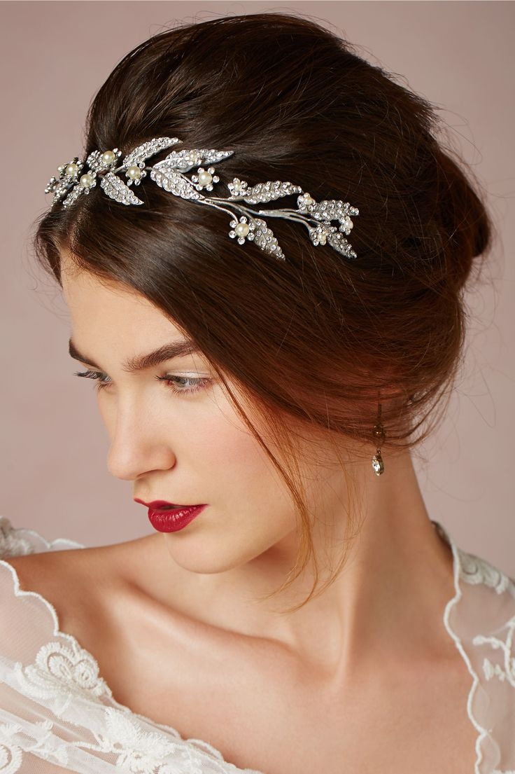 Lady-of-the-Manor Headpiece in Bride Veils & Headpieces at BHLDN