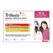 Trifexis! I would highly recommend it for your pet. Trifexis is a monthly, chewable tablet for dogs that kills fleas, prevents heartworm disease, and treats and controls adult hookworm, roundworm and whipworm infections.